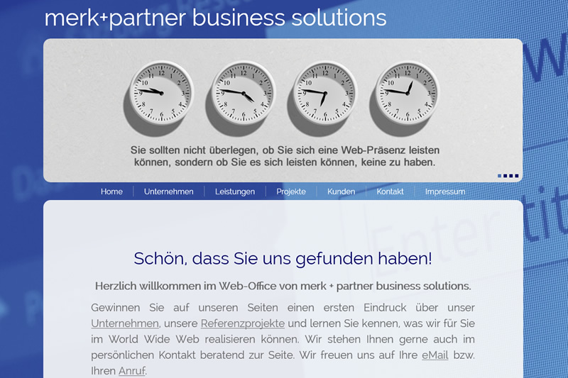 Projekt merk+partner - business solutions - Relaunch 2016
