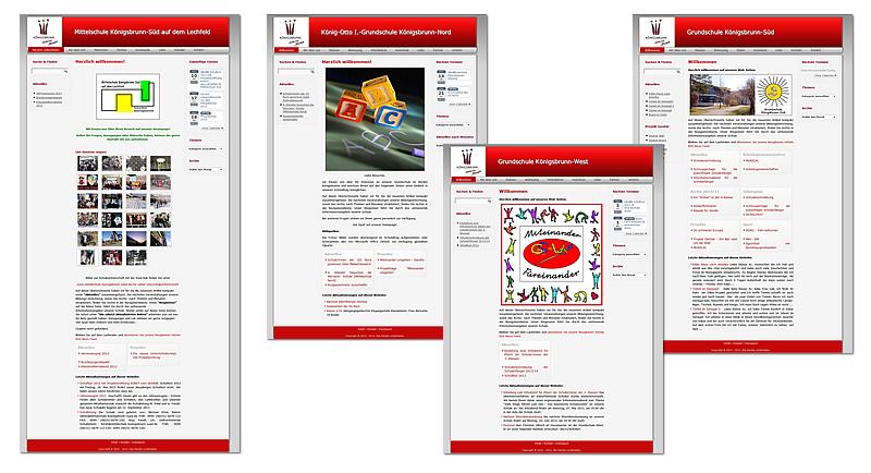 Projekt Schulen Königsbrunn Relaunch 2012