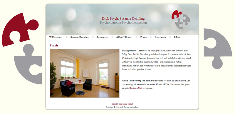 Projekt Dipl. Psychologin und Psychologische Psychotherapeutin Susanne Deimling
