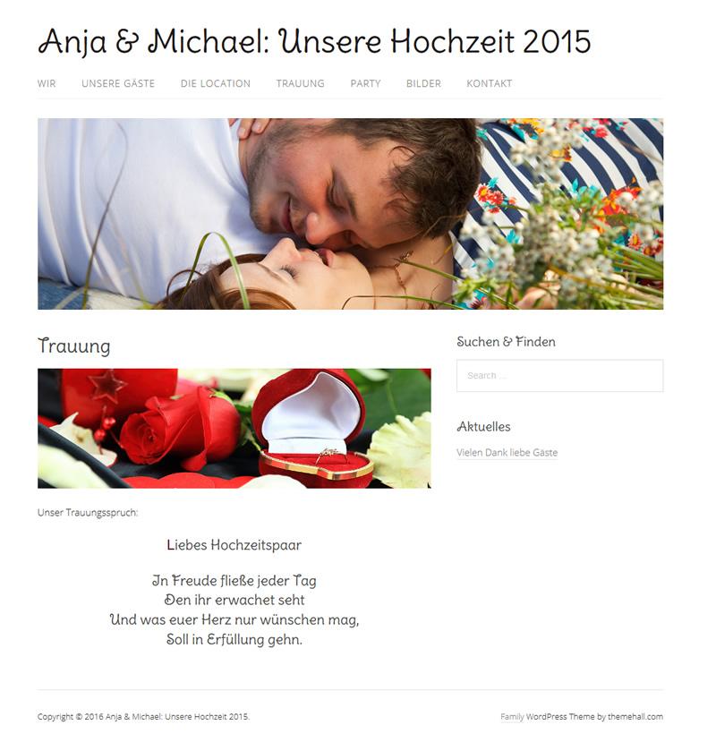 Projekt Hochzeit Anja & Michael