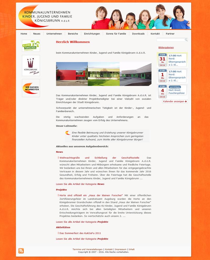 Projekt Kinder, Jugend und Familie Königsbrunn Kommunalunternehmen A. d. ö. R