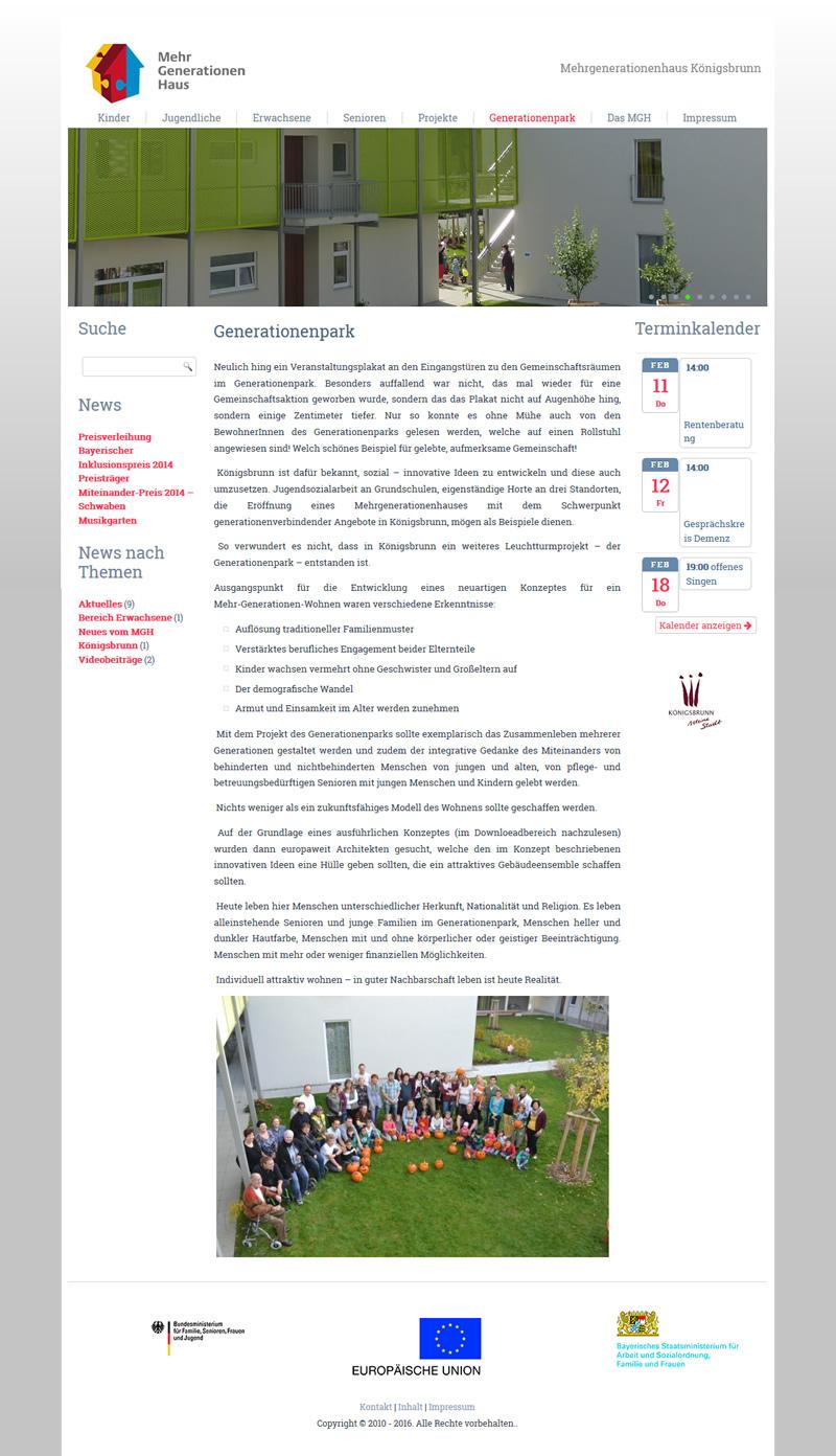 Projekt Mehrgenerationenhaus Königsbrunn