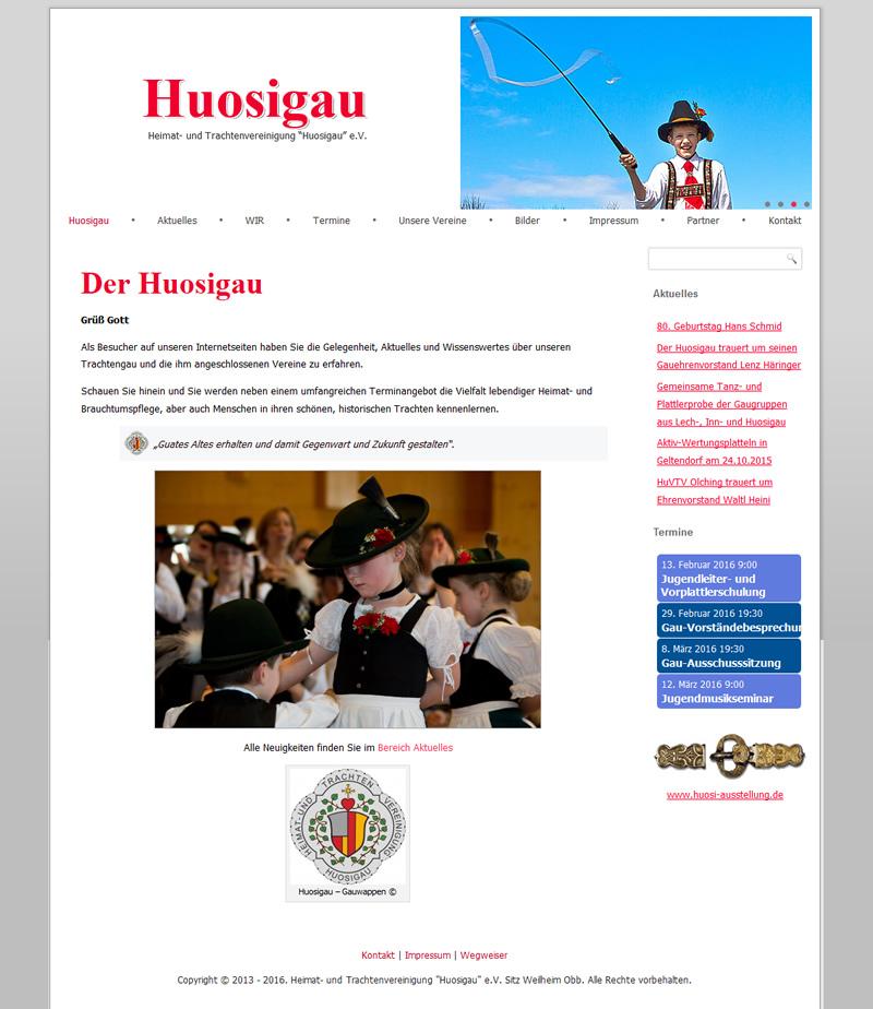 Projekt Heimat- und Trachtenvereinigung Huosigau