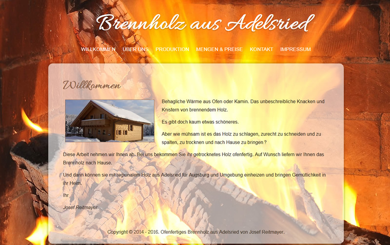 Projekt Brennholz aus Adelsried Josef Reitmayer