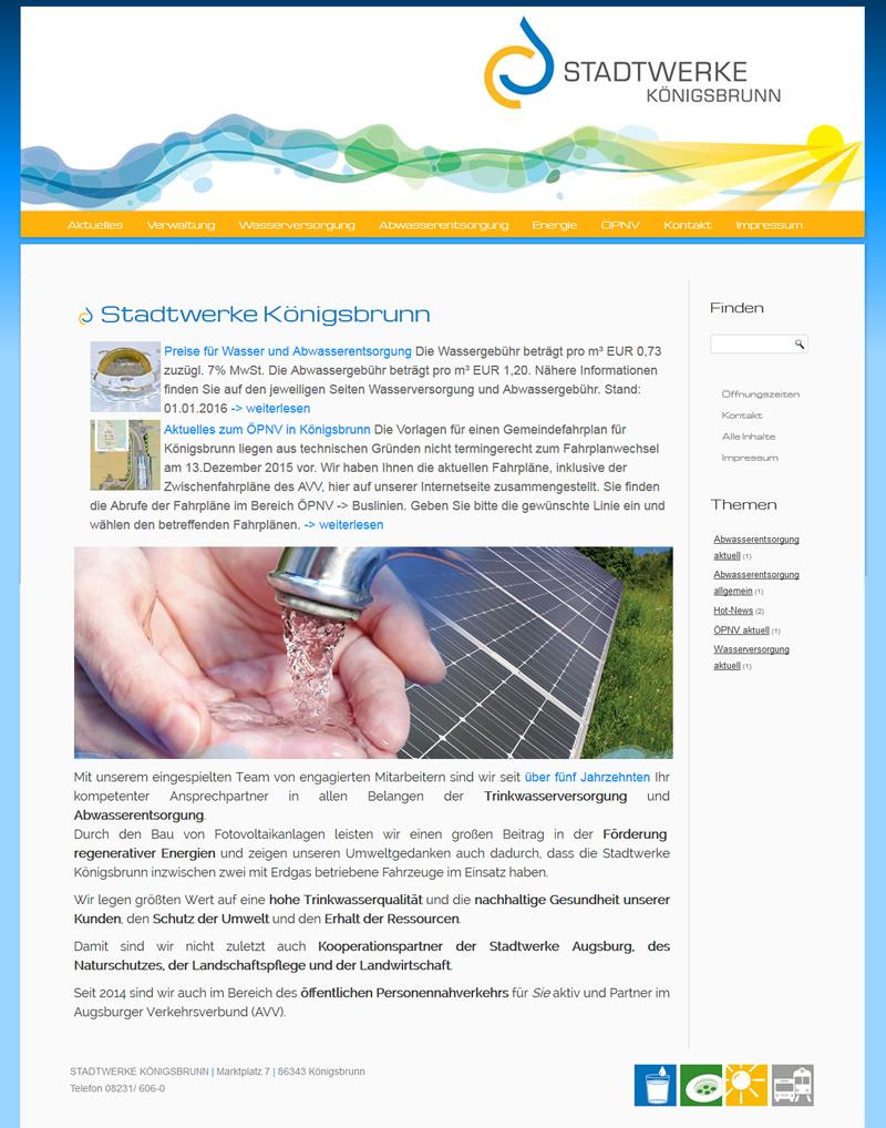 Projekt Stadtwerke Königsbrunn