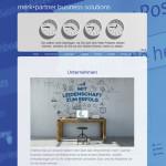 Projekt merk+partner - business solutions - Relaunch 2016